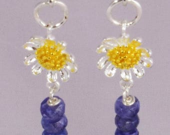 925 Sterling Silver Tanzanite Earrings