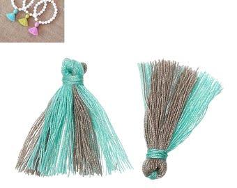 20 charms 25mm - blue/Brown-SC64872 Polyester fringe tassels-