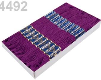 24 Docking Embroidery/stick twist #4492 Amaranth