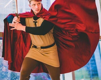 Prince Phillip Inspired Cape and Cap (optional Tunic)