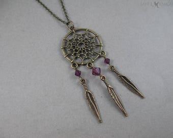 CLEARANCE - Bronze Dreamcatcher Charm Necklace