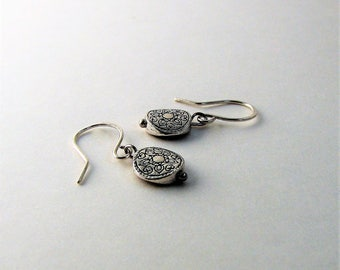 Lightweight Sterling and Mixed Metal Lentil Dangle Earrings
