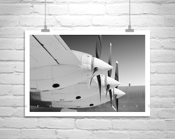 Black and White Airplane Art, Aviation Decor, Pilot Gift, Vintage Aircraft Art, Convair Airplane, Military Aircraft Photo, Aviation Gift