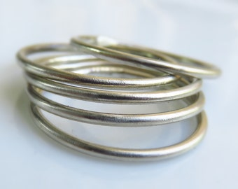 Sterling Silver stacking ring set of 5 / Sterling Silver Stack Ring / Sterling Silver Knuckle Rings