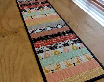 Aztec quilted tablerunner