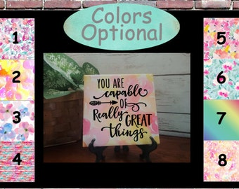 Inspiring Art, You Are Capable Of Really Great Things, Girls Bedroom Art, Tween Girls Gift, Free Shipping, SALE, Tween Easter Gift
