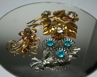 Vintage Brooch Lot - 3 Piece