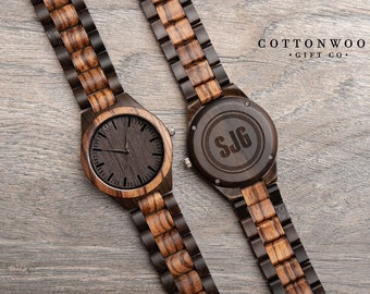 Father's Day Gifts for Him, Wood Watch, Mens Wooden Watch, Anniversary Gifts for Husband, Anniversary Gifts for Boyfriend, Wooden Watch
