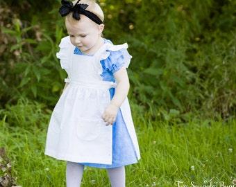 Girls Pinafore Dress Pattern PDF - vintage style pinafore pattern - 2 to 10 years - sewing pattern