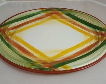 "Vernon Kilns Homespun 12 3/4"" Platter"