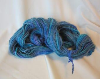 Navajo 3 Ply Alpaca Yarn Handspun & Hand Dyed - 105 yards - Worsted Weight - 9-11 WPI
