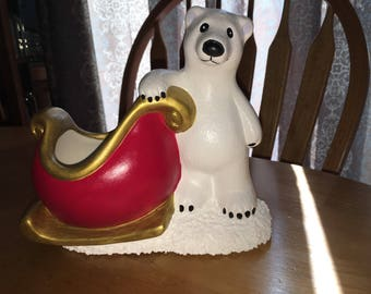 Polar Bear with Sleigh