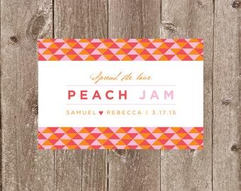 Modern Geometric Jam or Preserves Jar Wedding or Party Favor Label Printable