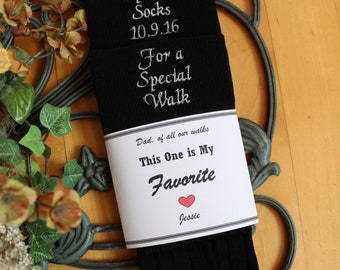 Father of the Bride socks, Special Socks for a Special Walk Wedding Socks with Socks Label. Father of the Bride Gifts. SKSX-F23LB4X