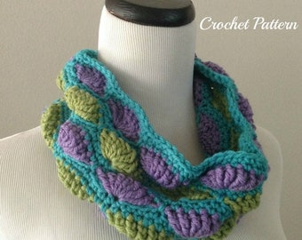 SPRING SALE CROCHET Pattern - Chunky Cowl Crochet Pattern, Neckwarmer Pattern, Easy Crochet Pattern, Circle Scarf Crochet Pattern