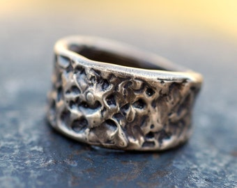 Bronze Ring Metal Jewelry Molten Kisses