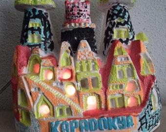 Nacht Licht/Fee Haus, Fee Schornsteine-Gips Schornsteine Miniatur - nationale Dekor