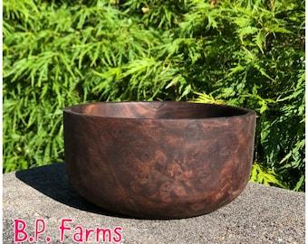 Medium Sized Walnut Burl Bowl - #38