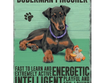 Doberman Pinscher Metal Sign