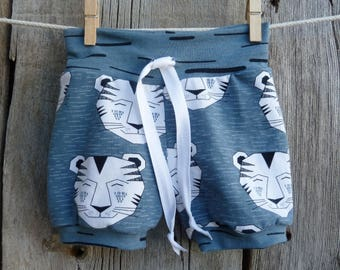 Organic baby shorts, tiger baby clothes, baby boy summer clothes, toddler shorts, trendy baby boy clothes, baby boy gift, baby boy shorts,