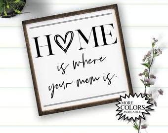 Home is Where Your Mom Is - Mother's Day Gift - Mother's Day Sign - Signs for Mom - Gifts for Mom - Farmhouse Decor