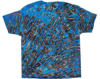 XL Shibori Men's T Deep Violet Tie Dye Mens Shirt