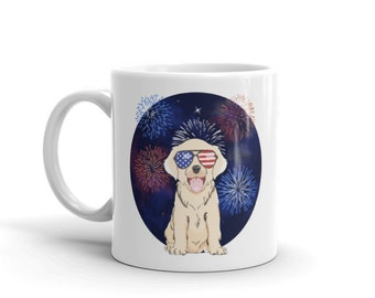 4th of July Labrador Retriever Puppy Dog Mug