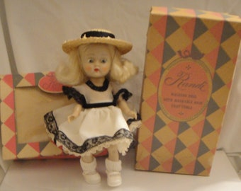 """8"""" Randi Hard Plastic Walking Doll Ginger Clone in Original Outfit and Box"""