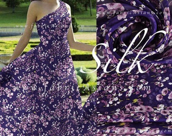 Purple Silk Chiffon Babysbreath fabric