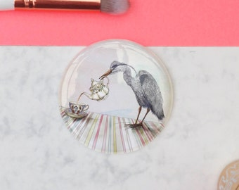 Harold the Heron // Pocket Mirror
