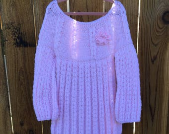 Knitted Dress Girls Dress Ages 5 to 6