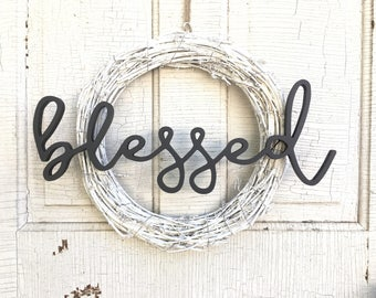 Blessed Word Cutout | Word Wooden Letters