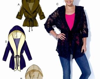 Loose Fit Hoody Pattern, Loose Fitting Jacket Pattern, Hoody Vest Pattern, McCall's Sewing Pattern 7333