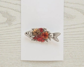 Floral fish Brooch