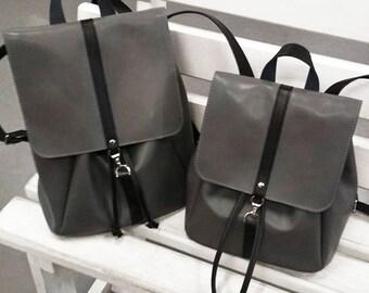 Gray backpack leather backpack men backpack woman backpack big backpack laptop backpack city backpack travel backpack tablet backpack
