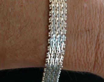 Riccio Sterling Silver Bracelet. Vintage Italian Silver Bracelet. Riccio Bracelet. 7 Inch Bracelet. 7 Inch Riccio.