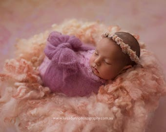 NEWBORN FLOWER CROWN {Alicia} Floral Crown - Newborn Halo - Newborn Headband - Newborn Photo Prop - Newborn Crown - Photography Props