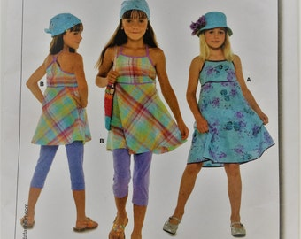 Burda sewing pattern 9608 - girl's sundress and top size 7-12