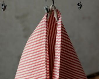 Striped linen tea towel, linen towels set, natural linen towels, tea towel, linen dish towels, linen kitchen towels, stonewashed linen towel
