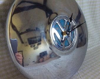 Vintage VW hubcap clock