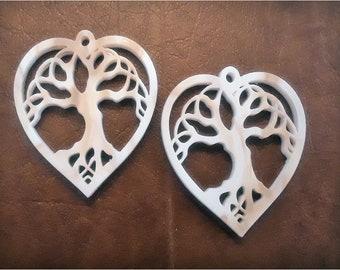Heart & Tree Earrings