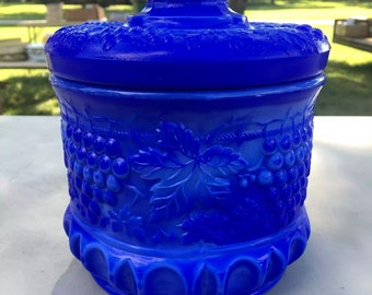 Vintage Fenton Glass Tobacco Jar
