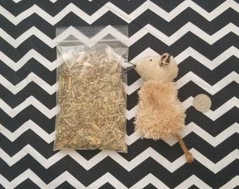 Pre-Stuffed Organic Valerian Root/Organic Lemongrass Toy (Reusable)