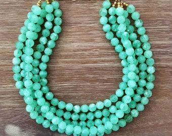 shipping chain in fit gemstone from shiny jade necklace bead ladies beads fabulous dark necklaces stone item formal jewelry strands free affairs fashion green