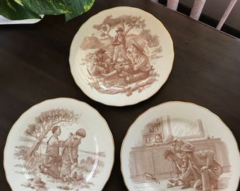 Franklin porcelain Mark Twain plates (3)
