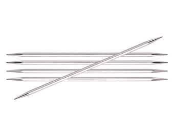 "Nova Cubics Platina - 12.5 cm (5"") Double Pointed Needles - Knitter's Pride"