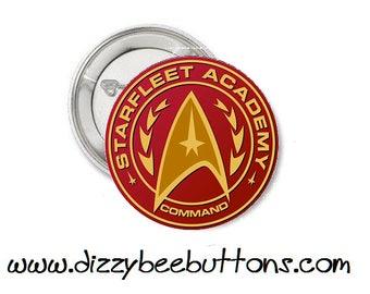 "Star Trek - Starfleet Academy Command - 1.25"" or 1.5"" - Pinback button - Badge - Magnet - Keychain - Trekkies - Gift - Space Final Frontier"
