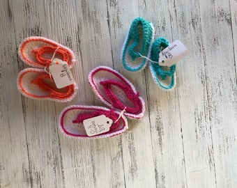 Crochet baby sandals ready to ship sale