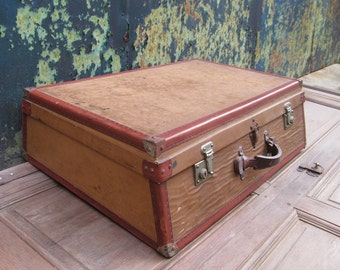 French Classic Car Suitcase - Tailored Classic Car Luggage - Sloping Front Suitcase Case - Classic Car Trunk - French Luggage - French Decor