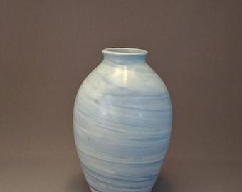 Blue Swirl Ceramic Porcelain Vase